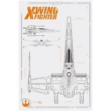 Star Wars Episode 7 X Wing Plans Maxi Poster