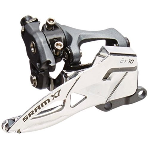 SRAM X.7 2x10-Speed Low Dual Pull S3 Direct Mount Front Derailleur, 36T