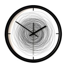 "12"" Scribble Style Mute Quartz Wall Clock For Sitting room/Bedroom"