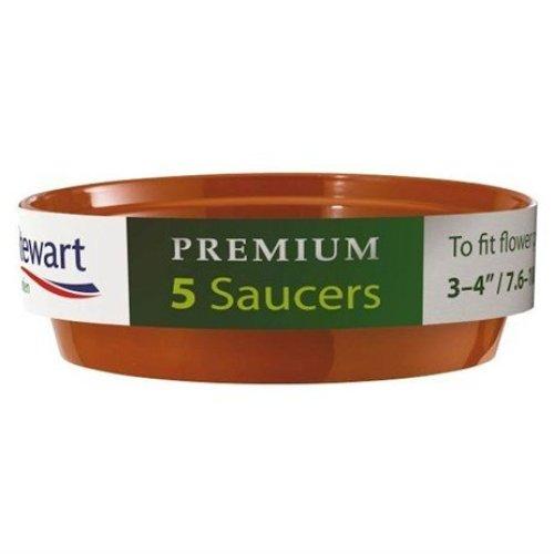 Stewart Garden 5 Premium Flower Pot Saucers - 13-15cm - Green (4842004)
