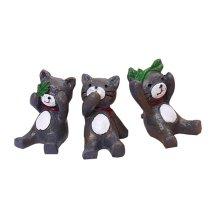 Set of 3 Unique Animal Decoration Animal Accessories,1.6''