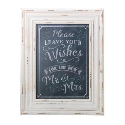 Wishes Framed Sign Black