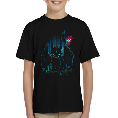 How To Train Your Dragon Shadow Night Fury Kid's T-Shirt