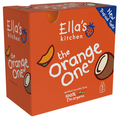 Ellas Kitchen  Smoothie Fruit Orange One Multipack (90gx5) x 3