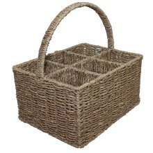 Seagrass Six Section Wine Bottle Carrier Basket