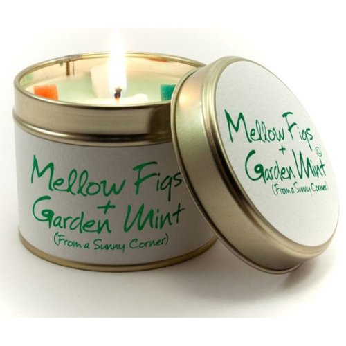 Lily Flame Candle in a Tin - Mellow Fig & Garden Mint