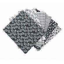 Fat Quarter Bundle - 100% Cotton - Classic Black - Pack of 6