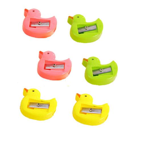 Pack of 33-School Smart Hand Held Plastic Pencil Sharpener-Assorted Colors ,Duck