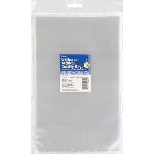 "Darice Open Top Plastic Bags 30/Pkg-6.75""X10.75"" Clear"