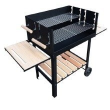 Outsunny Charcoal Trolley Barbecue | Charcoal BBQ Grill With Wheels