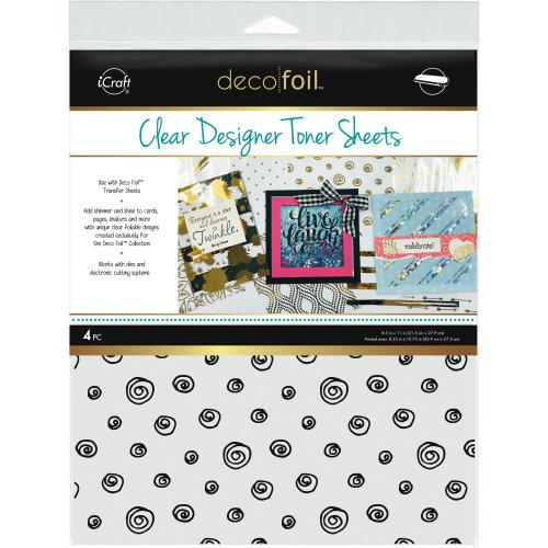 "Deco Foil Clear Toner Sheets 8.5""X11"" 4/Pkg-Doodles"