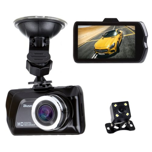 """3.0"""" LCD FHD 1080p 170° Wide Angle Dual Channel Dashboard Camera"""