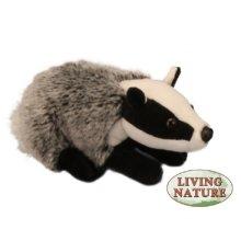 Medium Badger Plush Soft Toy - Living Nature Long Kids Teddy 20cm -  badger living nature toy long medium soft kids teddy plush 20cm