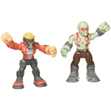 Playskool Heroes Marvel Super Hero Adventures Star-Lord and Drax Figures