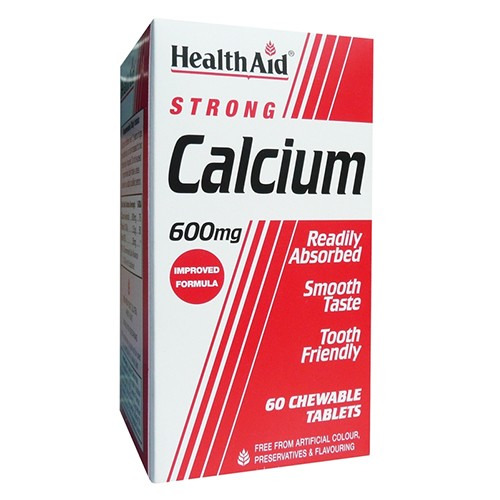 Healthaid Calcium 600mg - Chewable  Tablets 60's