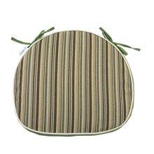 Creative Horseshoe Chair Cushion Polyester Fabrics Chair Pad (Green Stripe)