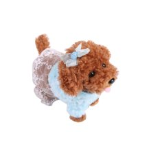 Electronic Plush Toy Dog Remote Control Machinery Pet-Blue/Sister