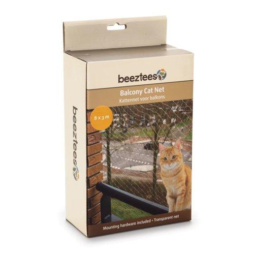 Beeztees Balcony Cat Net Transparent 8x3 m 41084