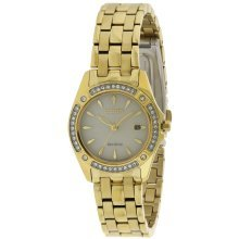 Citizen Eco-Drive Silhouette Gold-Tone Crystal Ladies Watch EW2352-59P