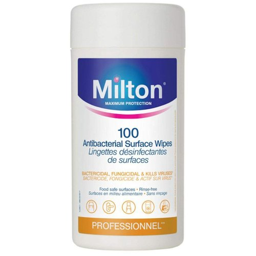 Milton Antibacterial Surface Wipes x100