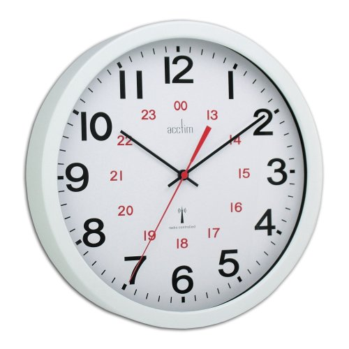 Acctim 74172 Controller Radio Controlled Wall Clock, White