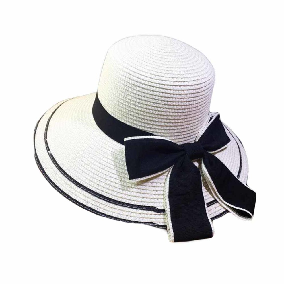 0e6ebf131 Women Sun Beach Hats Wide Brim Packable Straw Hats Foldable Bucket Hat  Beach Hat
