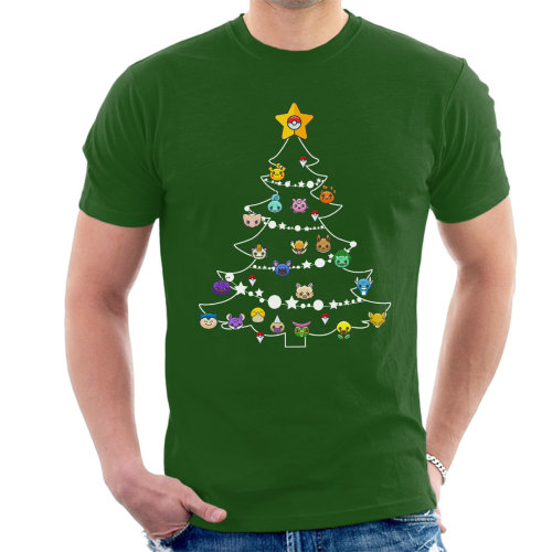 Pokemon Bulbs Christmas Tree Men's T-Shirt