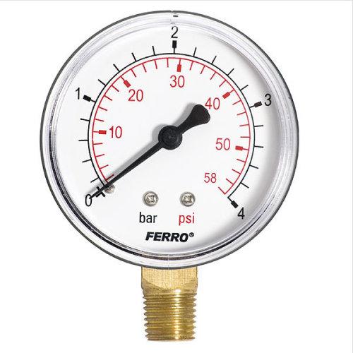 "60mm 10bar 150psi Pressure Gauge Air Oil or Water 1/4"" Bspt Side Entry Manometer"