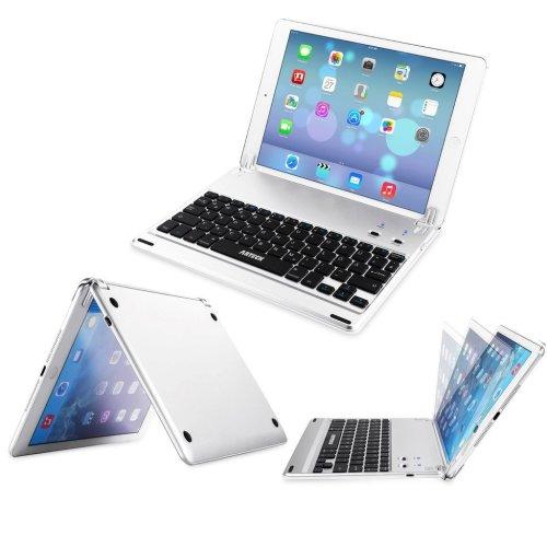 iPad (5th gen 2017) Keyboard, Arteck Ultra-Thin Bluetooth Keyboard Folio Case