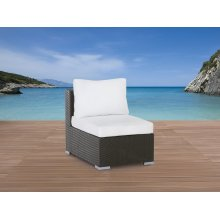 Rattan Garden Furniture single Chair with Cushions - GRANDE