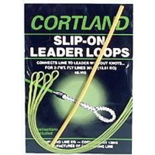 Cortland 601260 Slip-On Leader Loops Braided Yel, 30-Pound
