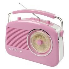 Konig Pink Stylish Retro Table Am/fm Radio