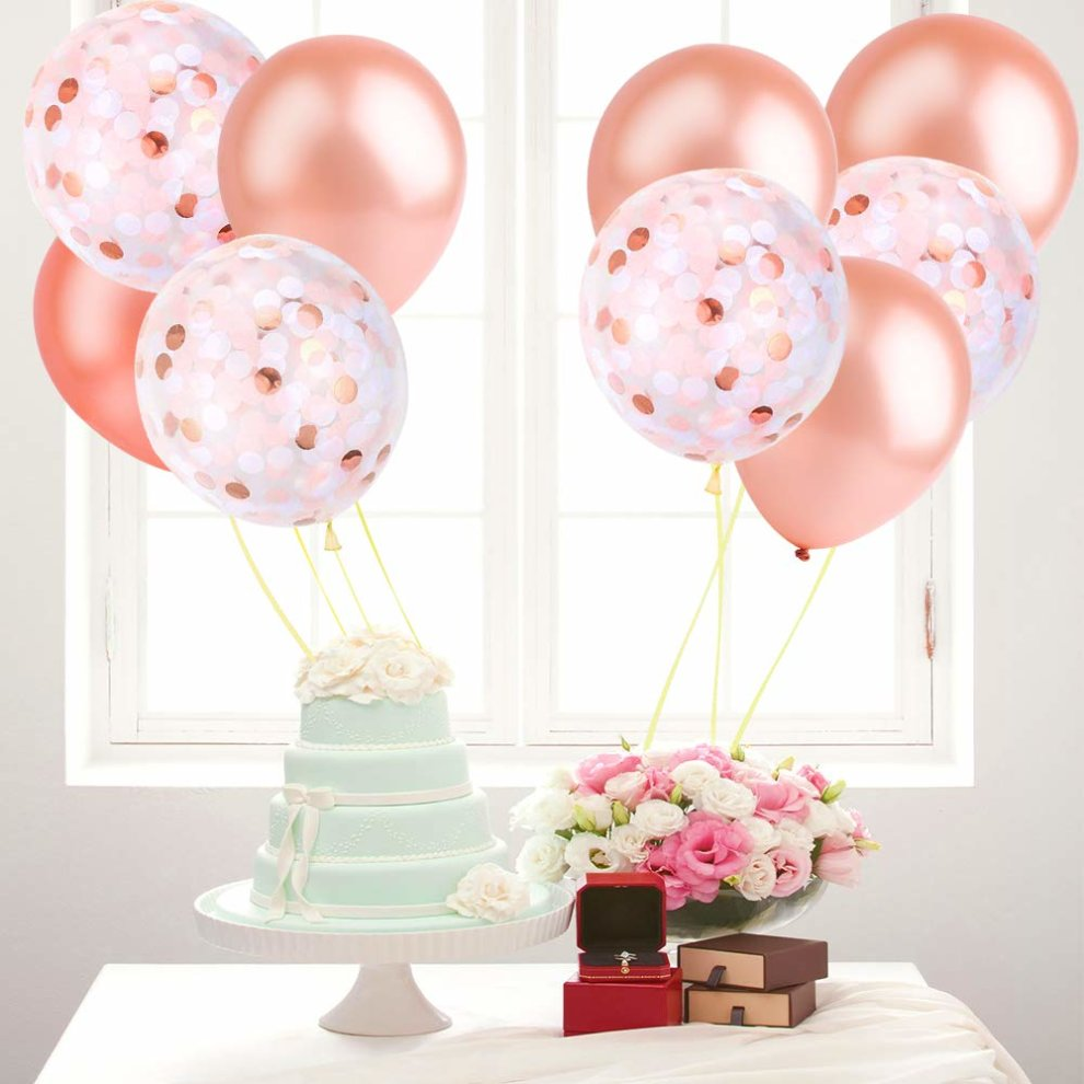 Defrsk 76 Pcs Happy Birthday Decoration Supplies Banner Party Balloon Rose Gold Balloons Decorations