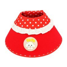 Candy Color Dog Wound Healing Elizabeth Protective Collar RED, M