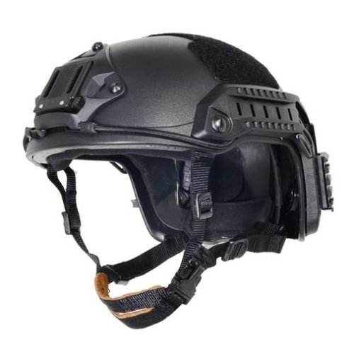 Airsoft Ops Core Black Swat  Maritime Fma Abs Helmet Jump Rail L/Xl