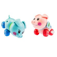 Set of 2 Lovely Animals Wind-up Toy for Baby/Toddler/kids, Piggy(Color Random)
