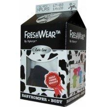 Medium 62-68cm Cute Cow Freshwear Body Suit - Xplorys Freshwear Cow Bodysuit 6mths+ Onsie Romper Vest Baby Medium Infant Gift