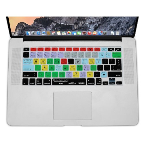 """XSKN Ableton Live Shortcuts English Silicone Keyboard Skin, Functional Hotkeys Protective Film for for 13"""" 15"""" 17"""" MacBook Air , MacBook PRO,..."""