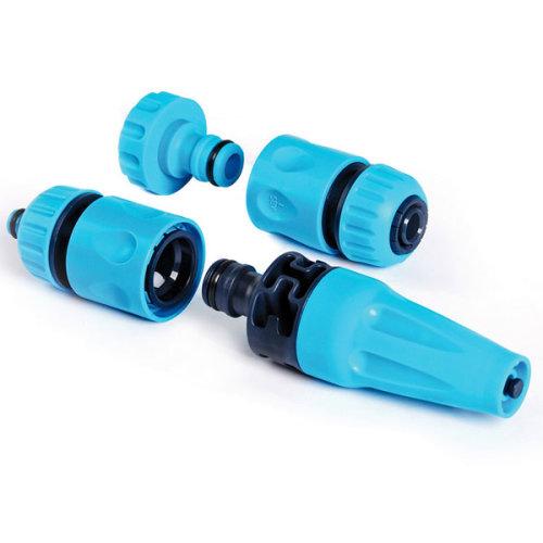 Garden Plastic Spray 4 Piece 3/4'' Hose Connector Nozzle Set