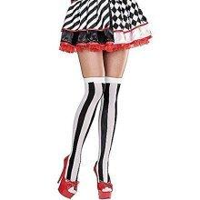 Widmann 01301-striped Overknee Tights Game -  overknee stripes stockings sexy ladies tights black white nylonstruempf alice