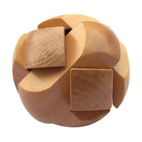 2 PCS Challenging Wood Brain Teaser Puzzle Disentanglement Puzzles, Style 18
