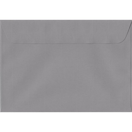 Graphite Grey Peel/Seal C5/A5 Coloured Grey Envelopes. 100gsm Swiss Premium FSC Paper. 162mm x 229mm. Wallet Style Envelope.