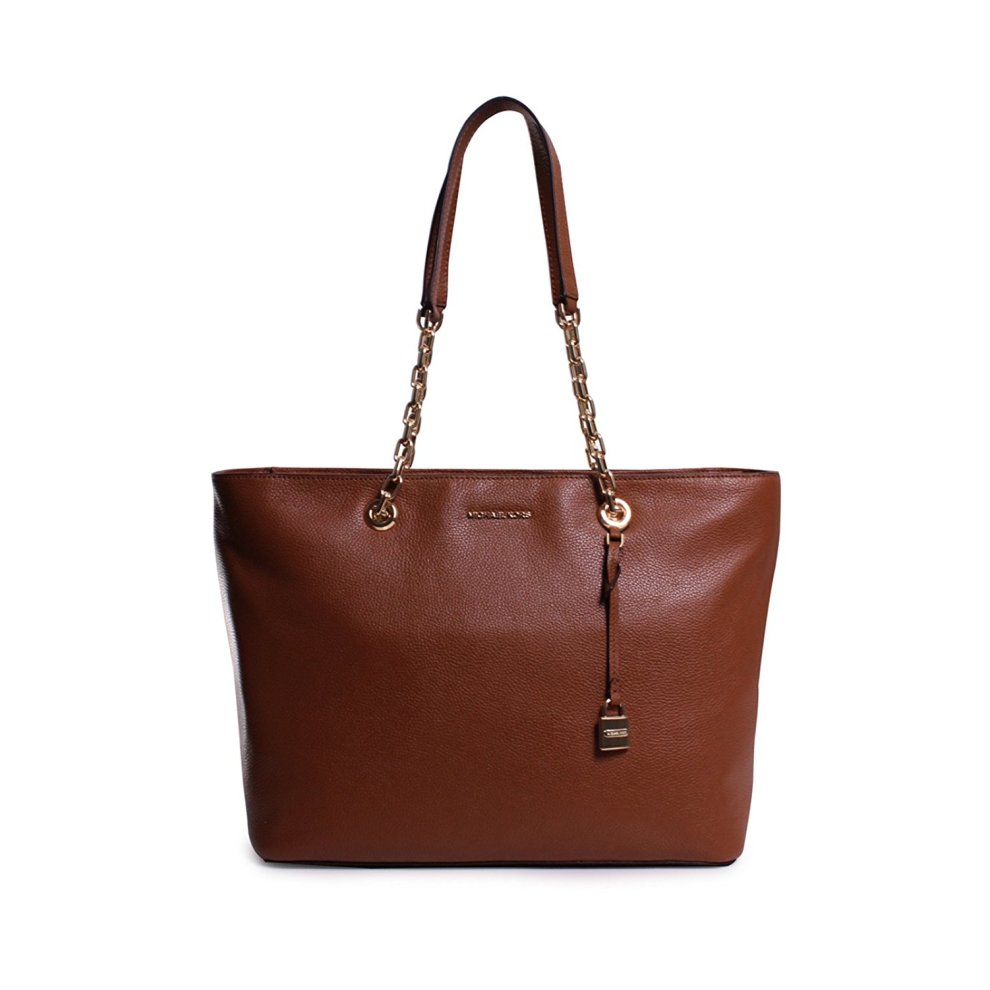 dbd6500ee359 Michael Kors Mercer Medium Chain-link Leather Tote - Brown - 30H6GM9T9L-230  on OnBuy