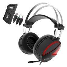 Gamdias HEBE E1 Gaming Headset with Mic, 7.1 Sound, RGB Lighting,  USB/3.5mm, Black