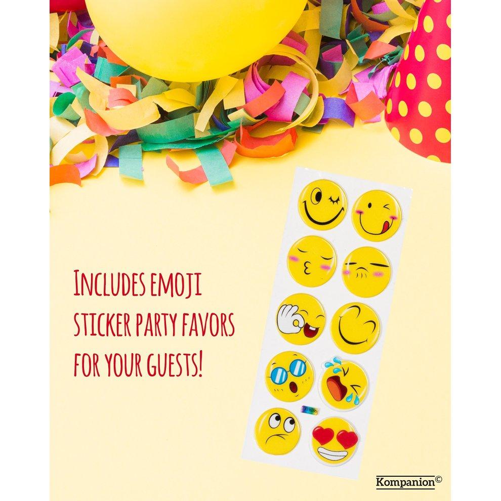 Napkins Kompanion 81 Piece Emoji Birthday Party Supplies Set