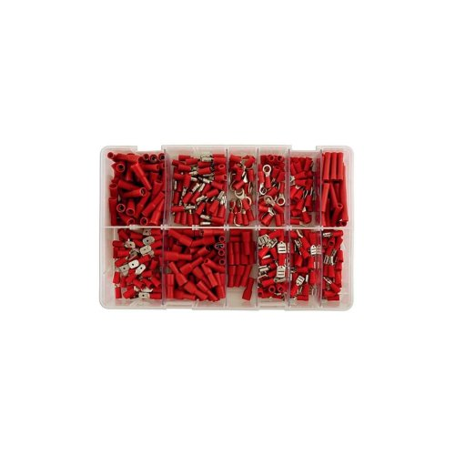 Wiring Connectors - Red - Pre-Insulated Assorted - Pack of 260