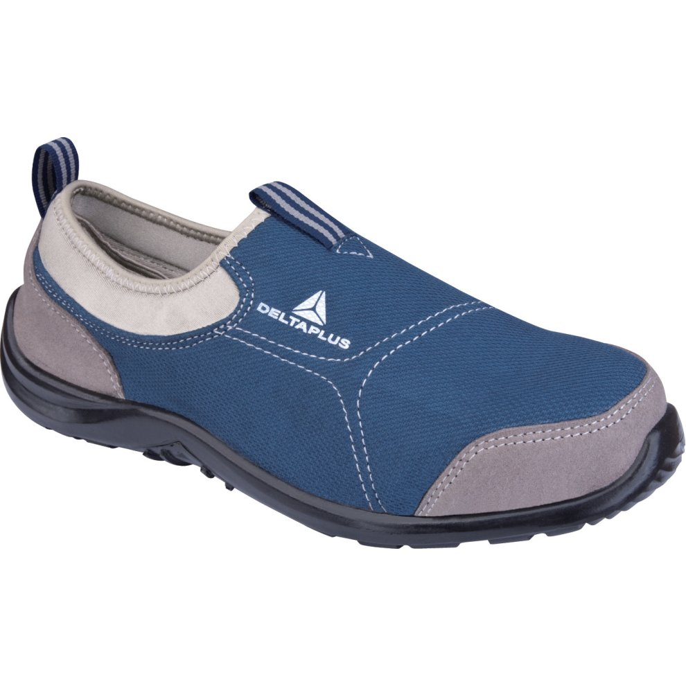 af535c636f1 Delta Plus Miami Blue Canvas Slip On Steel Toe Safety Trainers