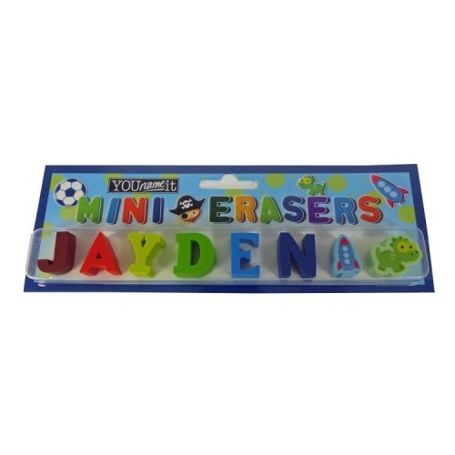 Childrens Mini Erasers - Jayden