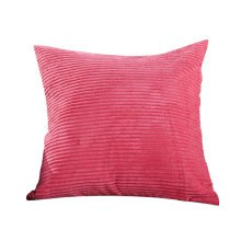 Classical Pinstriped Corduroy Throw Pillows Chain Accent Decorative Rose Red