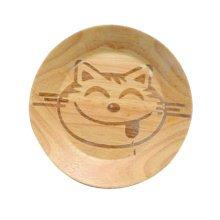 Wooden Dinnerware Fruit/ Meat/ Dessert Plates Round Shape Dishes 15 CM-A2